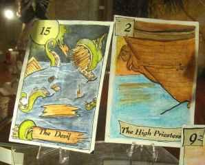 immagine in cui sono raffigurate due carte degli arcani
