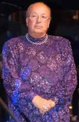 immagine che ritrae un operatore esoterico in piede che indossa una tunica viola