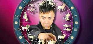 immagine che ritrae un operatore esoterico circondato da i 12 segni zodiacali