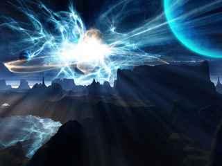 immagine che ritrae un cielo scuro illuminato dalla luce di un fulmine